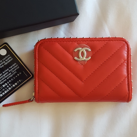 0dacfe7ffecf01 CHANEL Bags | Brand New Authentic Card Case With Studs | Poshmark